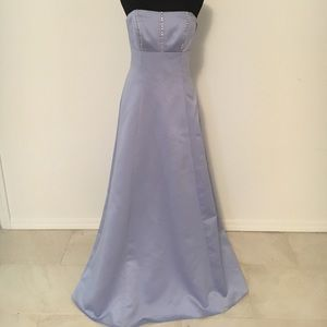 Strapless lilac purple gown